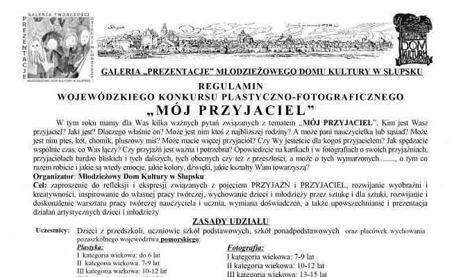 """Wojewódzki Konkurs Plastyczno-Fotograficzny """"MÓJ PRZYJACIEL""""."""